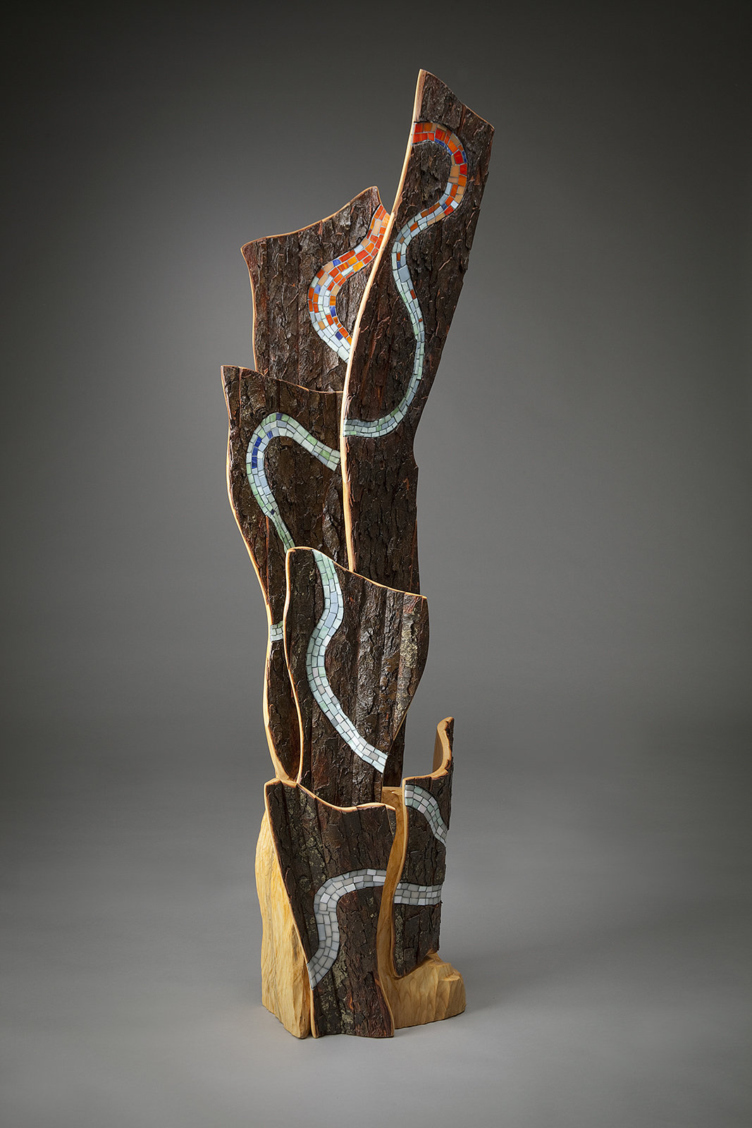 Waters Pathway By Aaron Laux Art Glass Amp Wood Sculpture Artful Home