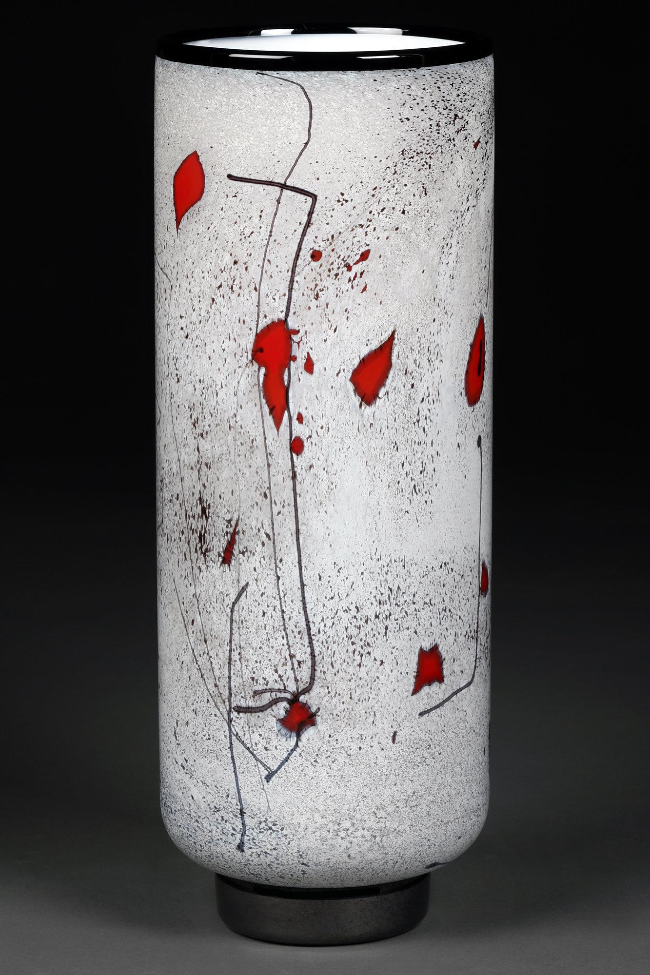 Zimska Jabluka Winter Apples Tall Vase By Eric Bladholm Art Glass Vase Artful Home