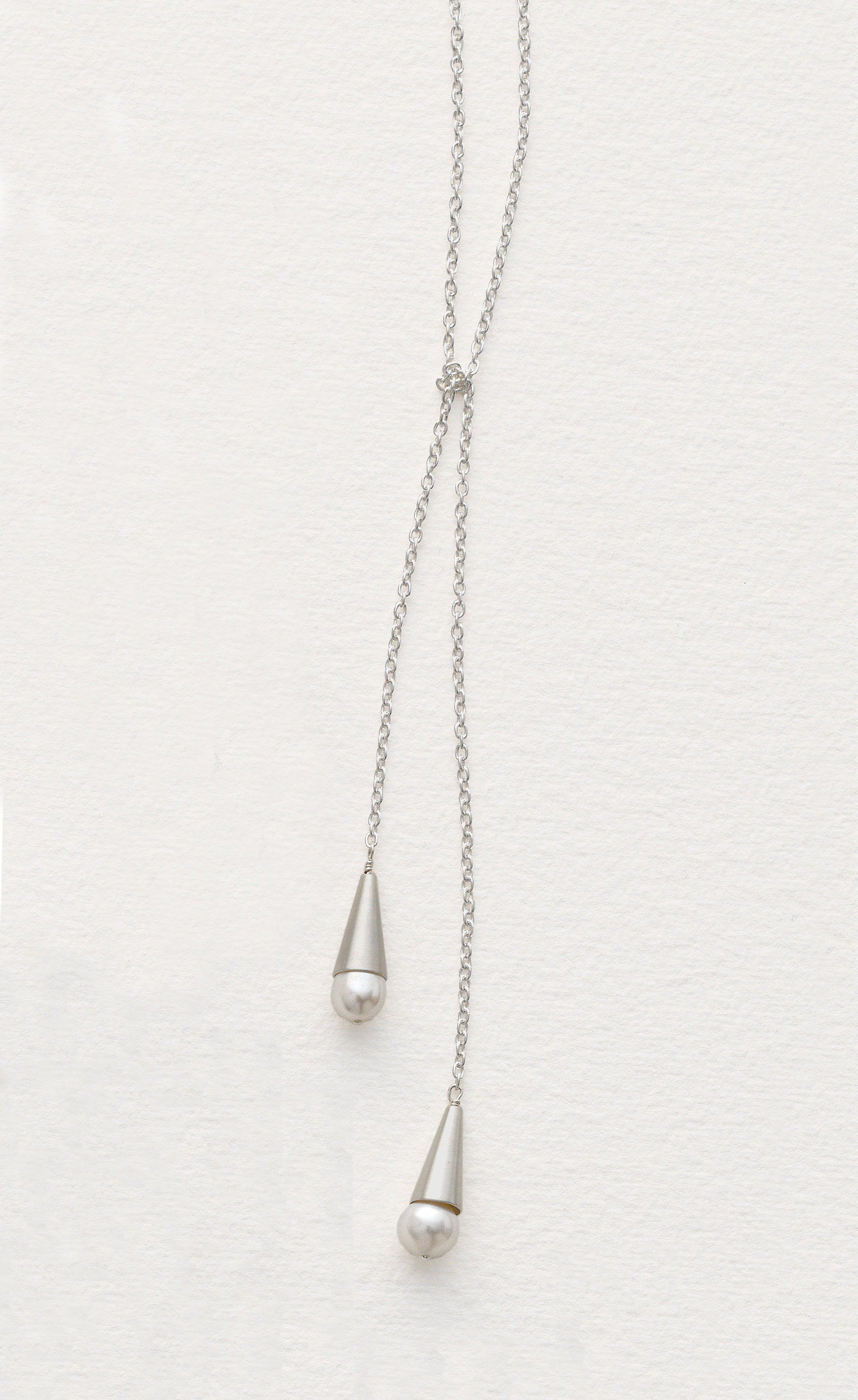 c8905a1214f2de Pearl Amp Silver Lariat By Claudia Endler Silver Amp Pearl