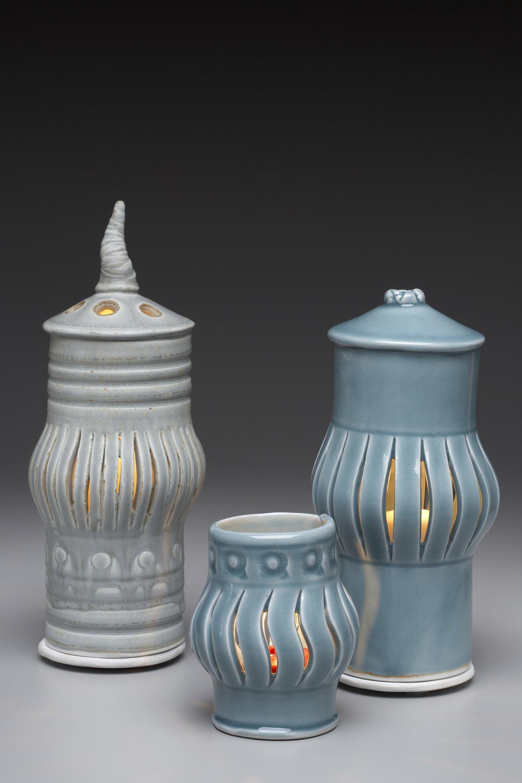 Table Tea Light Lantern By Marion Angelica Ceramic Lantern Artful Home