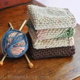 Knitting More Dishcloths…