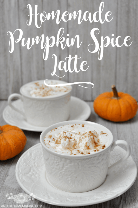 Make your own pumpkin spice latte at home with this delicious recipe!