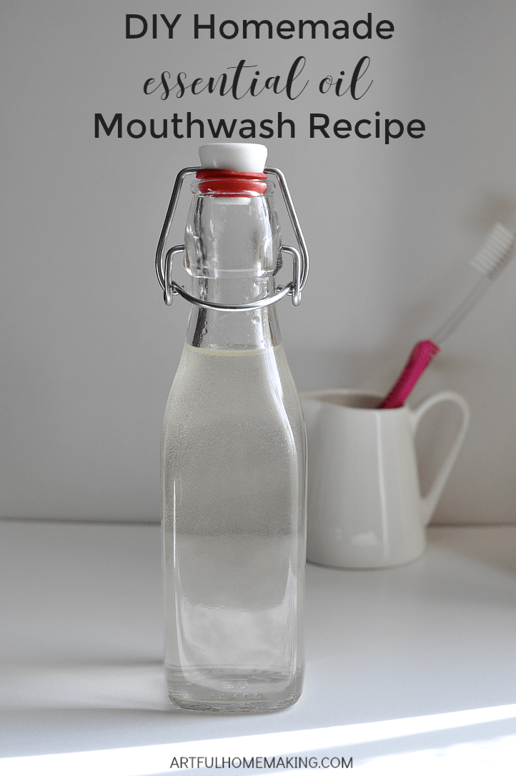 Make your own natural antiseptic mouthwash!