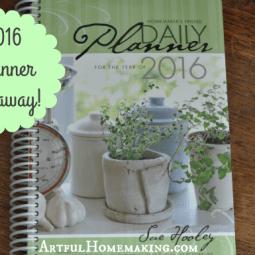 Homemaker's Friend Planner Giveaway!