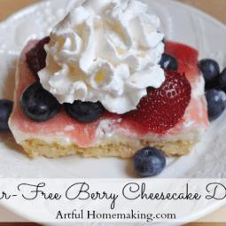 Sugar-Free Berry Cheesecake Dessert (THM-S)