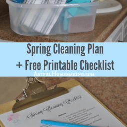 My Spring Cleaning Plan + Free Printable Checklist!