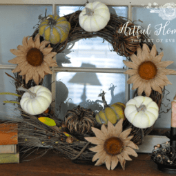 A New Wreath and Fall Decorating