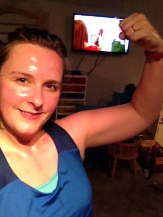 sweaty selfie