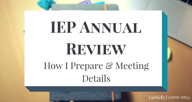 IEP Annual Review Prep & Meeting Notes