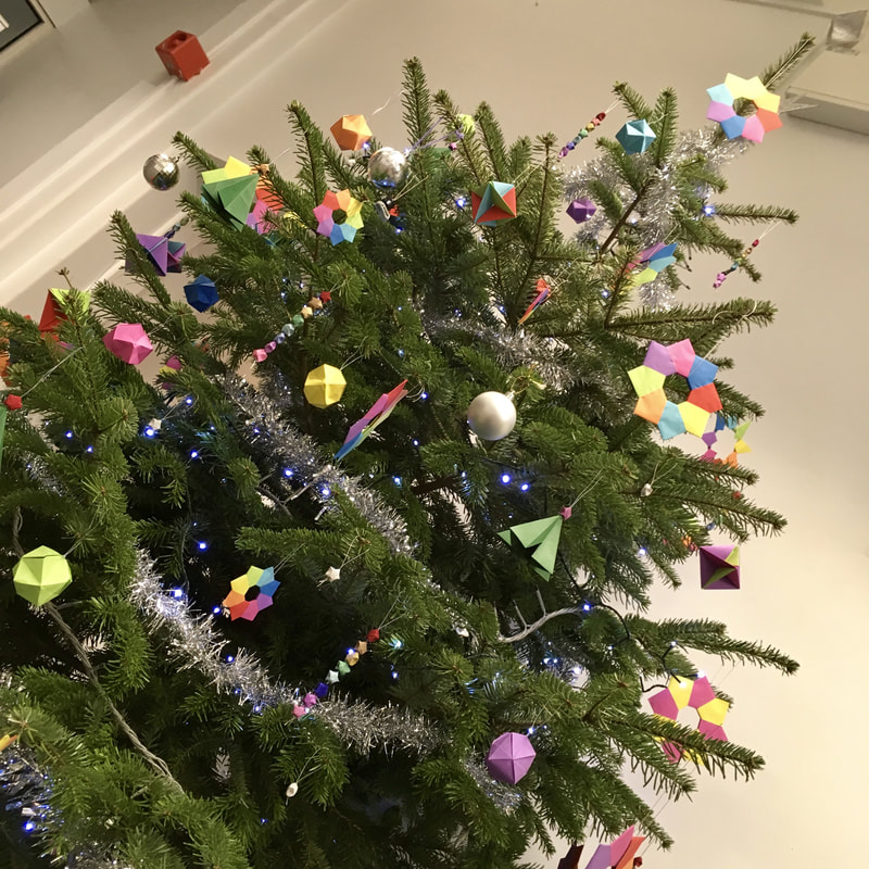 More Origami Christmas Decorations Outer Space Artful Maths
