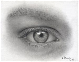 drawing the female eye in pencil