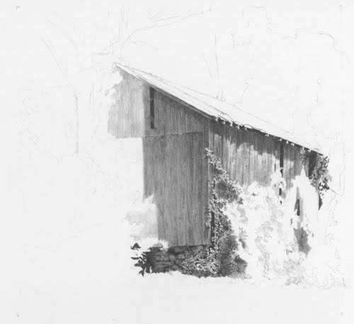 Drawing A Rustic Barn Clutch Pencil Demo