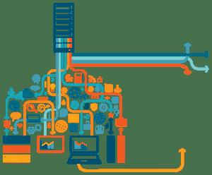 Ilustrasi teknologi big data