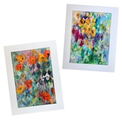 abstract meadow acrylic paintings
