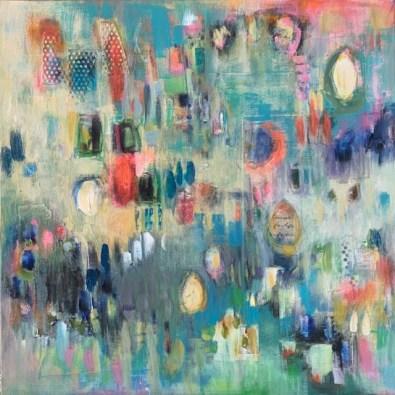 Abstract acrylic artwork