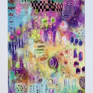 colourful abstract acrylic painting
