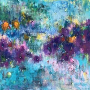 Abstract meadow painting