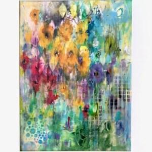 Acrylic abstract meadow