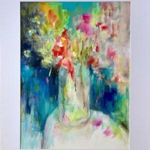 Acrylic abstract still life painting