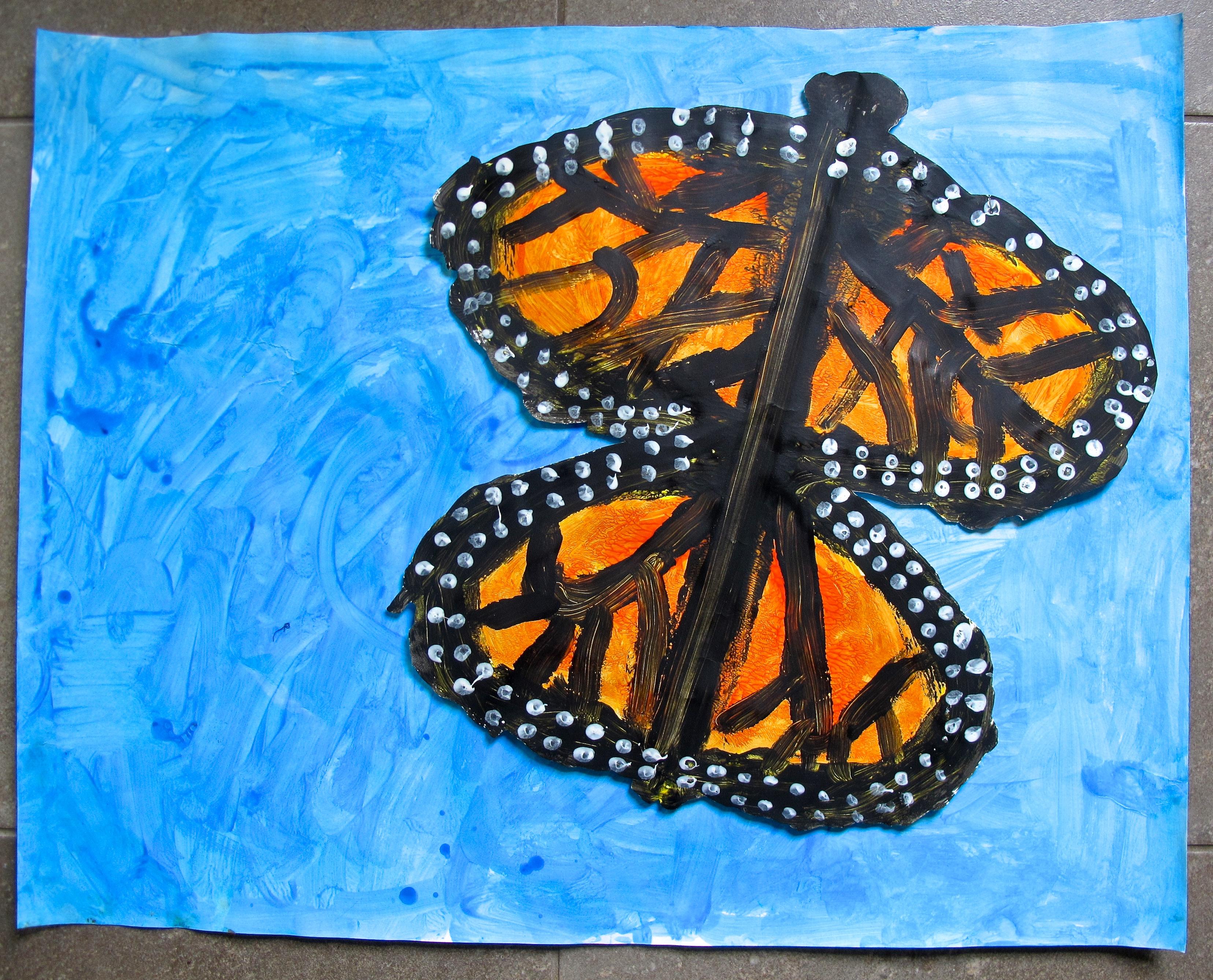 Grade 2 3 Painted Monarch Butterflies