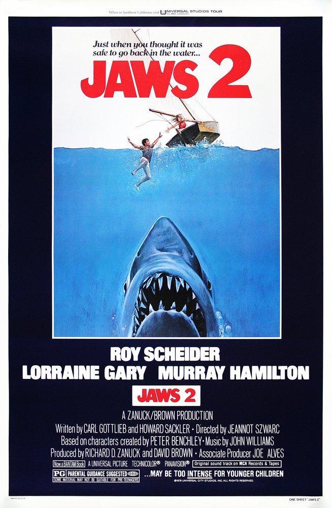 jaws 2 vintage movie poster