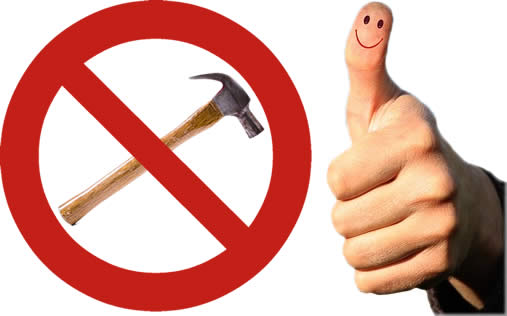 Image result for thumb hit with hammer