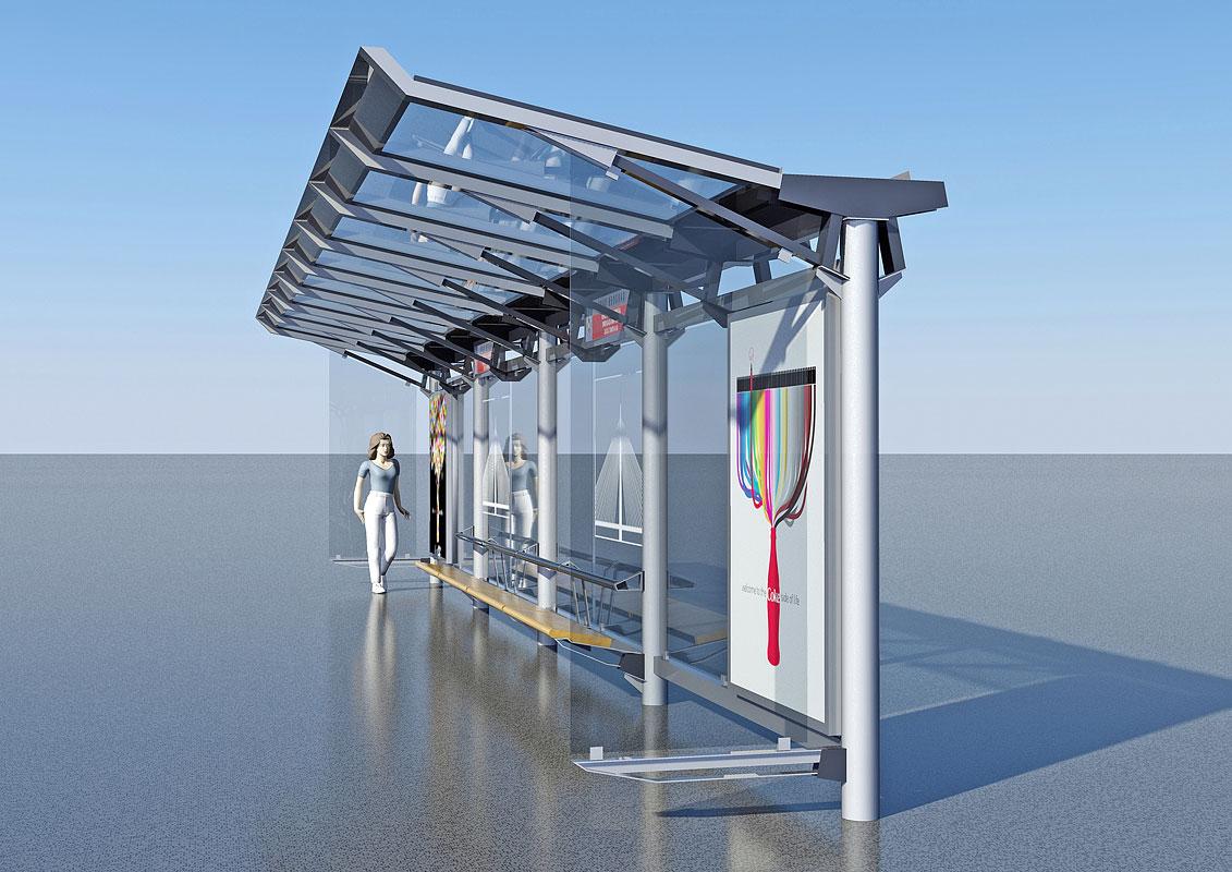 Design Of Public Transportation Bus Stop At Ada Bridge