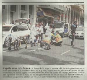 photo of Arthur after being run over, from the Segre local newspaper cutting