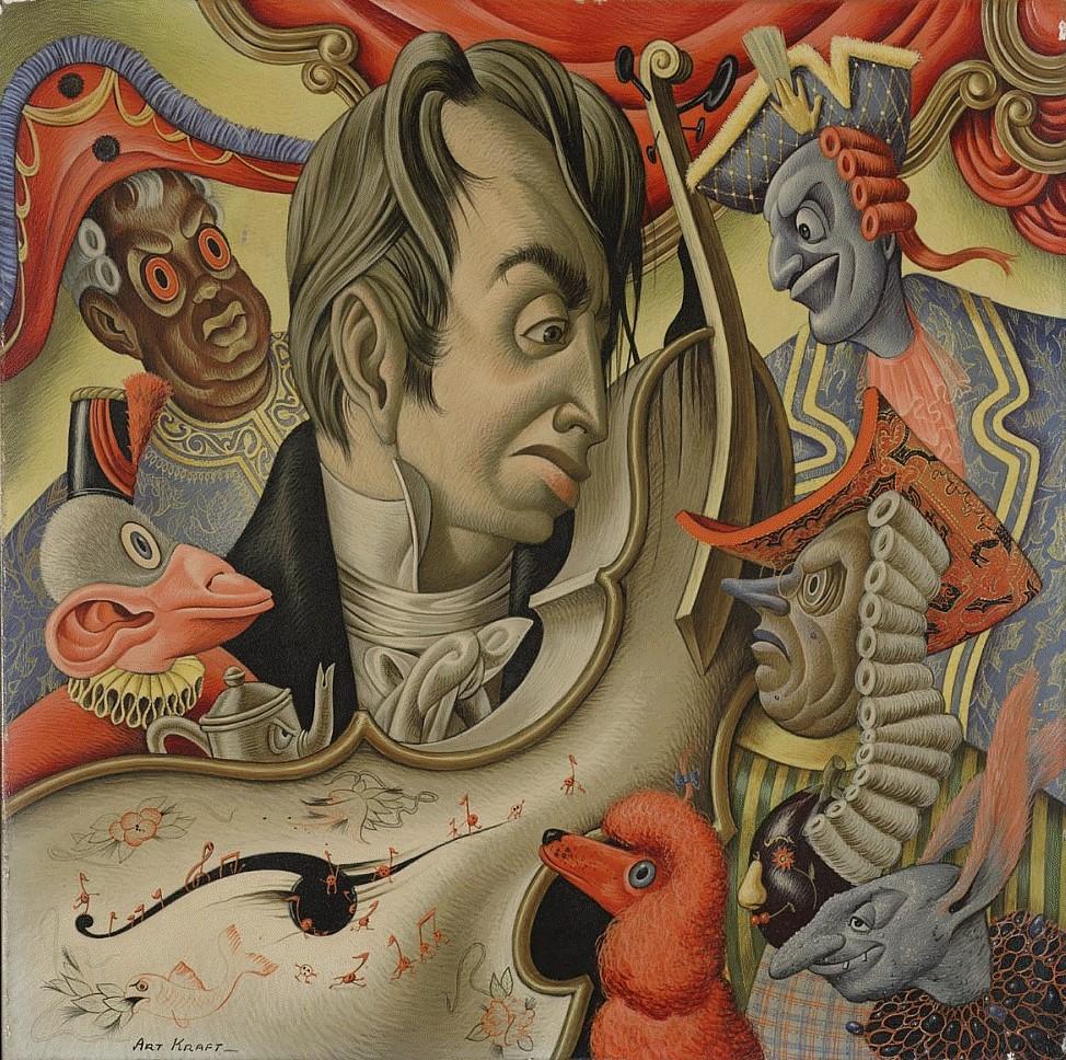 Arthur Kraft, Artist, Art, Kansas City, Painting, Surreal, Surrealist, Surrealism, Paganini, Nelson Atkins Museum