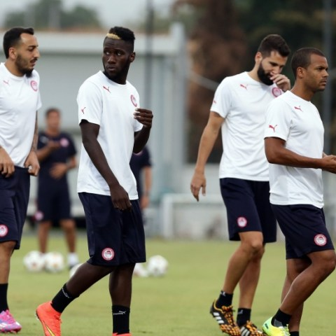 Olympiacos training