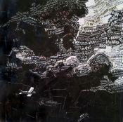 """""""El vuelo"""". Jesús F. Navarro. 20 x 20 cm. Collage Tipográfico sobre papel"""