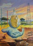 """""""Gota de Agua"""". Hernando Orozco Granados. Óleo sobre Lienzo 118 x 82 cm."""