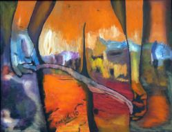 """Sex And City II"". Antonio Marsiglio. Óleo sobre tela 90 x 60 cm."