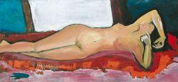 """Desnudo"". Carlos Gorrindo. 100 x 57 cm. Óleo sobre lienzo"
