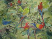 """""""Selva"""". Fariza. 161 x 120 cm. Óleo sobre lienzo. 2009. €1300"""