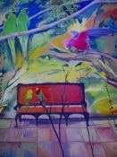 """""""Sillón Tropical"""". Fariza. 130 x 160 cm. Óleo sobre lienzo. 2009"""