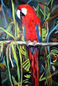 """""""Guacamayo"""". Fariza. 40 x 60 cm. Óleo sobre lienzo. €300"""