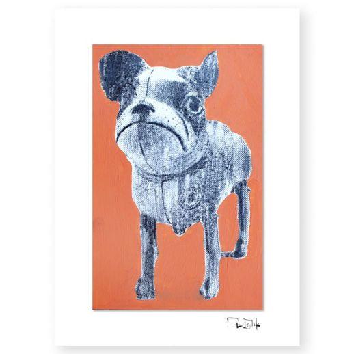 """""""Perro de juguete"""". Plastik. 15x20 cm. Técnica mixta sobre papel"""