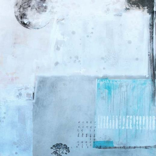 """""""Luna-5"""". Roma. 80x100 cm. Técnica mixta sobre lienzo. Obra original seriada."""