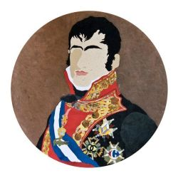 """Fernando VII afrancesado"". Daniel Esteban. Collage"