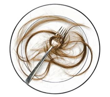 disgusting things: human hair