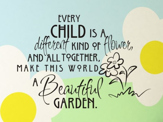 Every child is unique and special