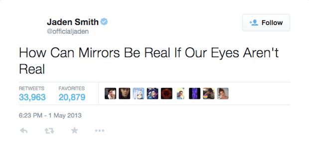 Jaden Smith Tweet