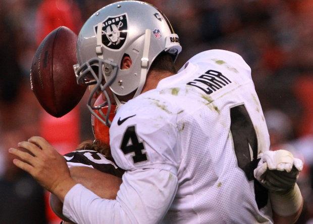 Oakland Raiders fumbling
