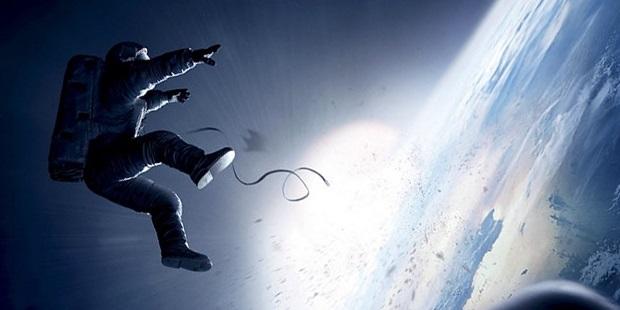 Astronaut breaking free in Gravity