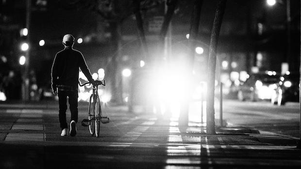 bike night winter