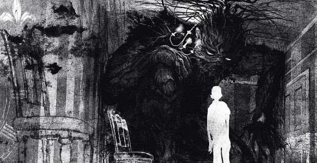 Jim Kay illustration for A Monster Calls