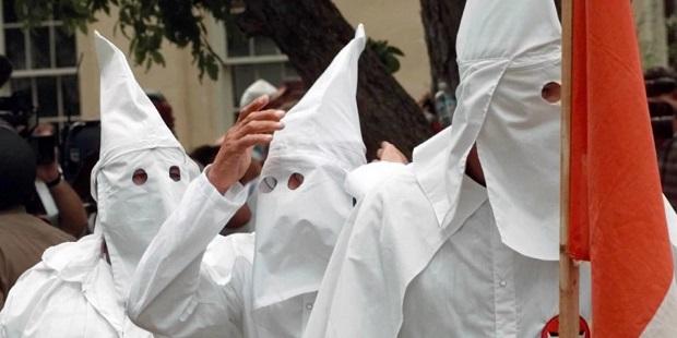KKK members at rally