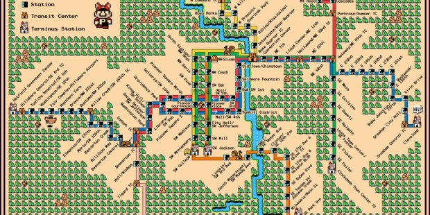 Super Mario World Transit Maps Make the Commute an Adventure