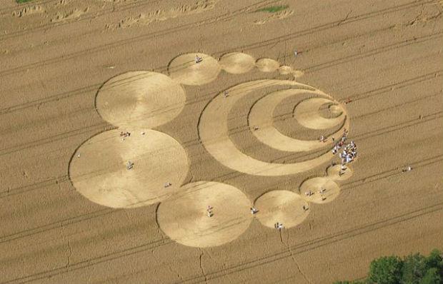 Photo of crop circles